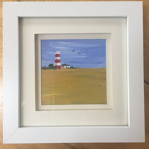 Small Framed Original Acrylic painting - The Lighthouse ll