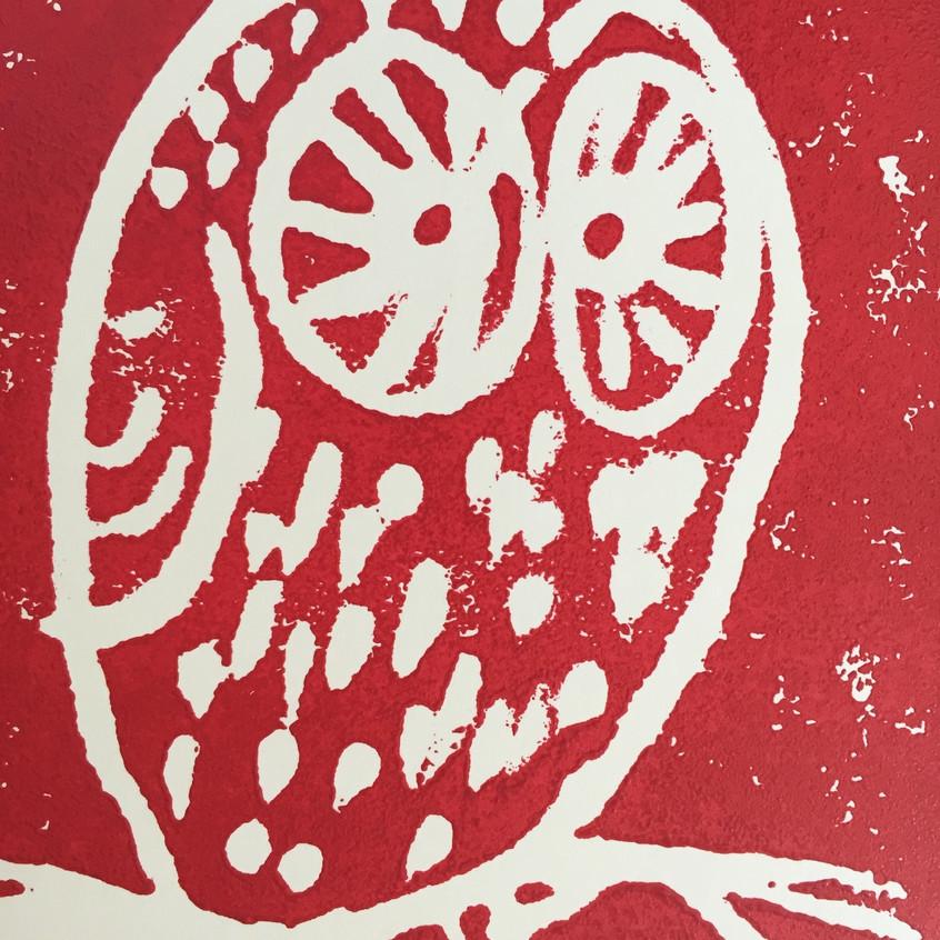 escape2art scratch printed owl