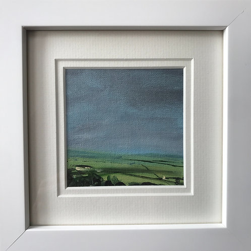 Mini Framed Original Acrylic painting - The Long View