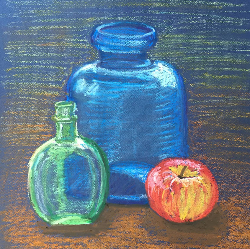 escape2art pastel bottle sketch