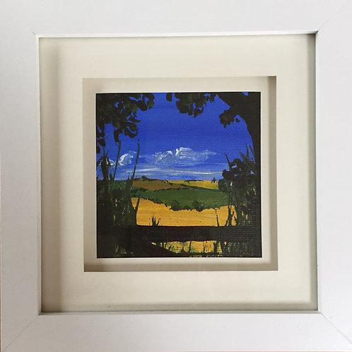 Mini Framed Original Acrylic painting - Moonfleet View l