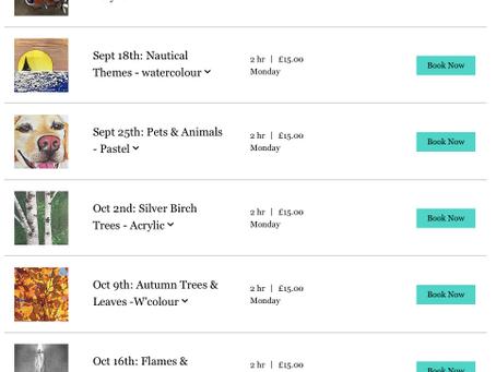 New Autumn Term Programme