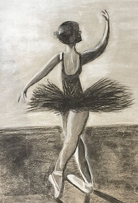 Charcoal sketch ballerina