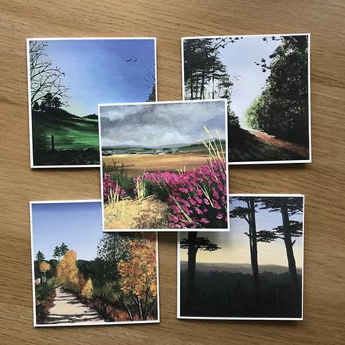 Greetings cards featuring Farnham Surrey scenes