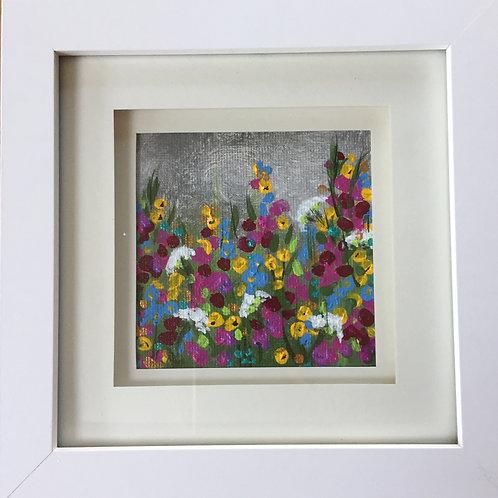 Mini Framed Original Acrylic painting - Summer Storm