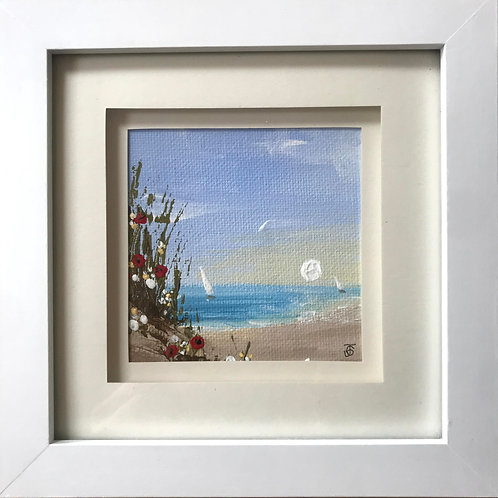 Mini Framed Original Acrylic painting - Dune view