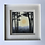 Thumbnail: Small Framed Original Acrylic painting - Silhouetted Woods - Sunny tones