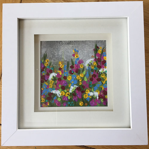 Small Framed Original Acrylic painting - Summer Storm