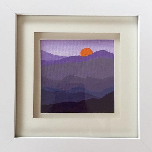 Mini Framed Original Acrylic painting - Mountain Meadow