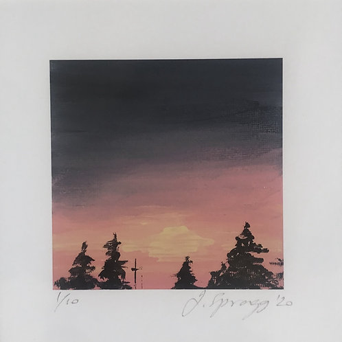 'Mini' Limited Edition Print - 'Suburban Sunset'