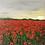 Thumbnail: Midi Size Framed Original Acrylic painting - Sunrise over the Poppies