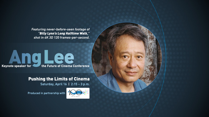 Ang Lee to speak and premiere his latest film at NAB 2016