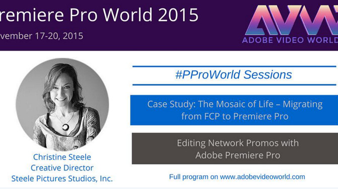 Today with Christine Steele at Adobe Video World 2015!