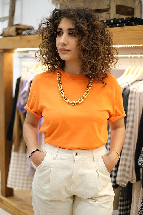 T-shirt Orange Collier