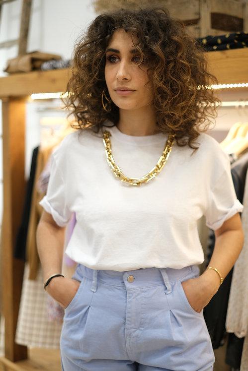 T-shirt Blanc Collier