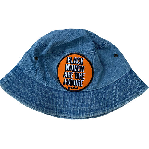 Black Women Are The Future Bucket Hat (Denim)