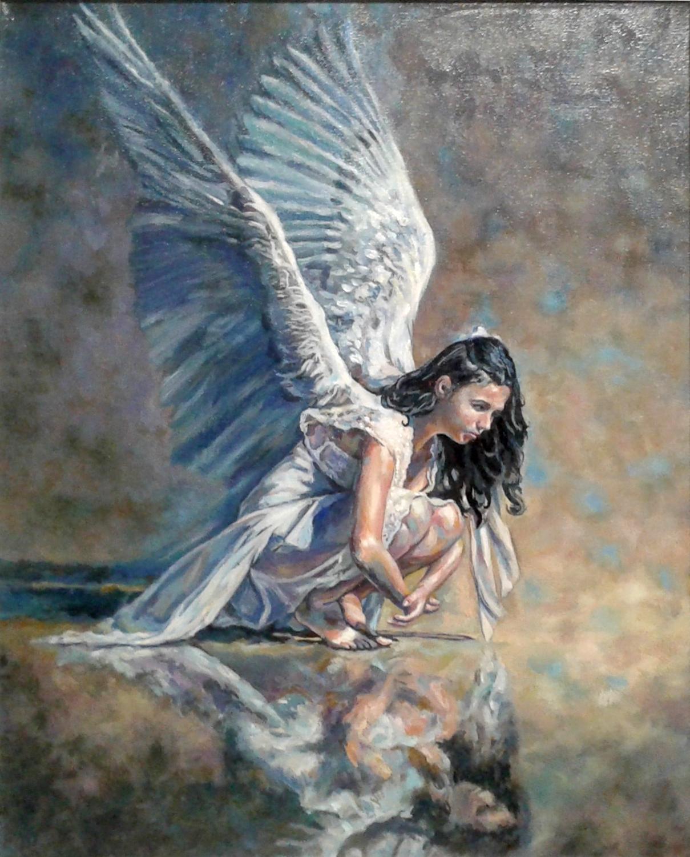 Картина копия Ангел масло-холст