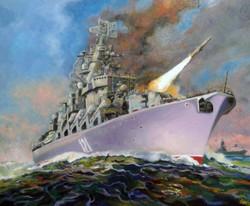 Картина маслом заказ КрейсерМосква