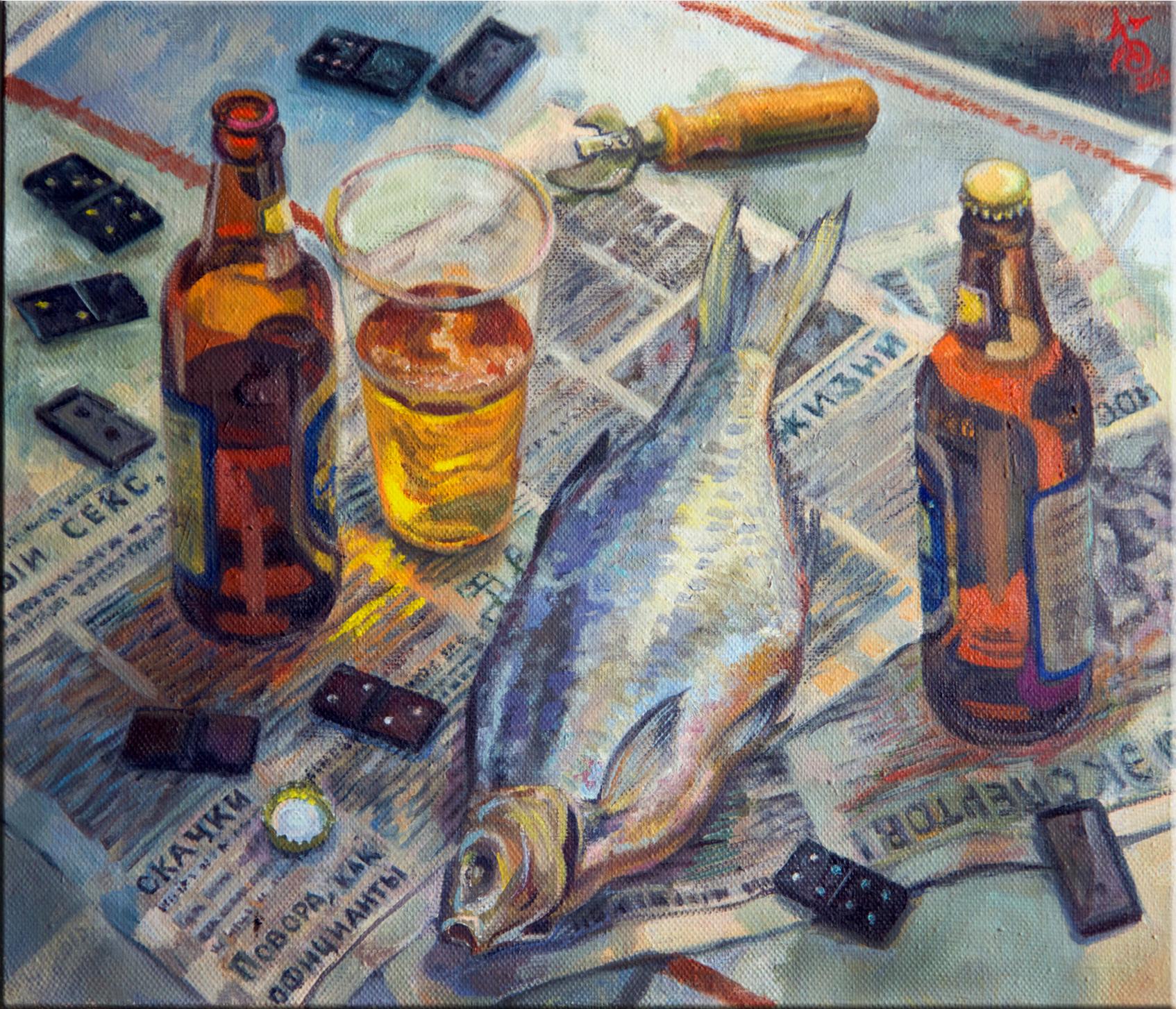 "Картина ""Пиво и лещ"""