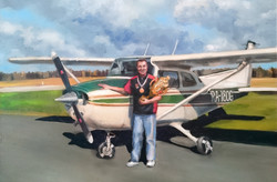 Картина маслом на заказ пилот