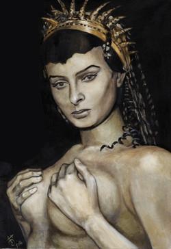 Портрет Софи Лорен масло-холст