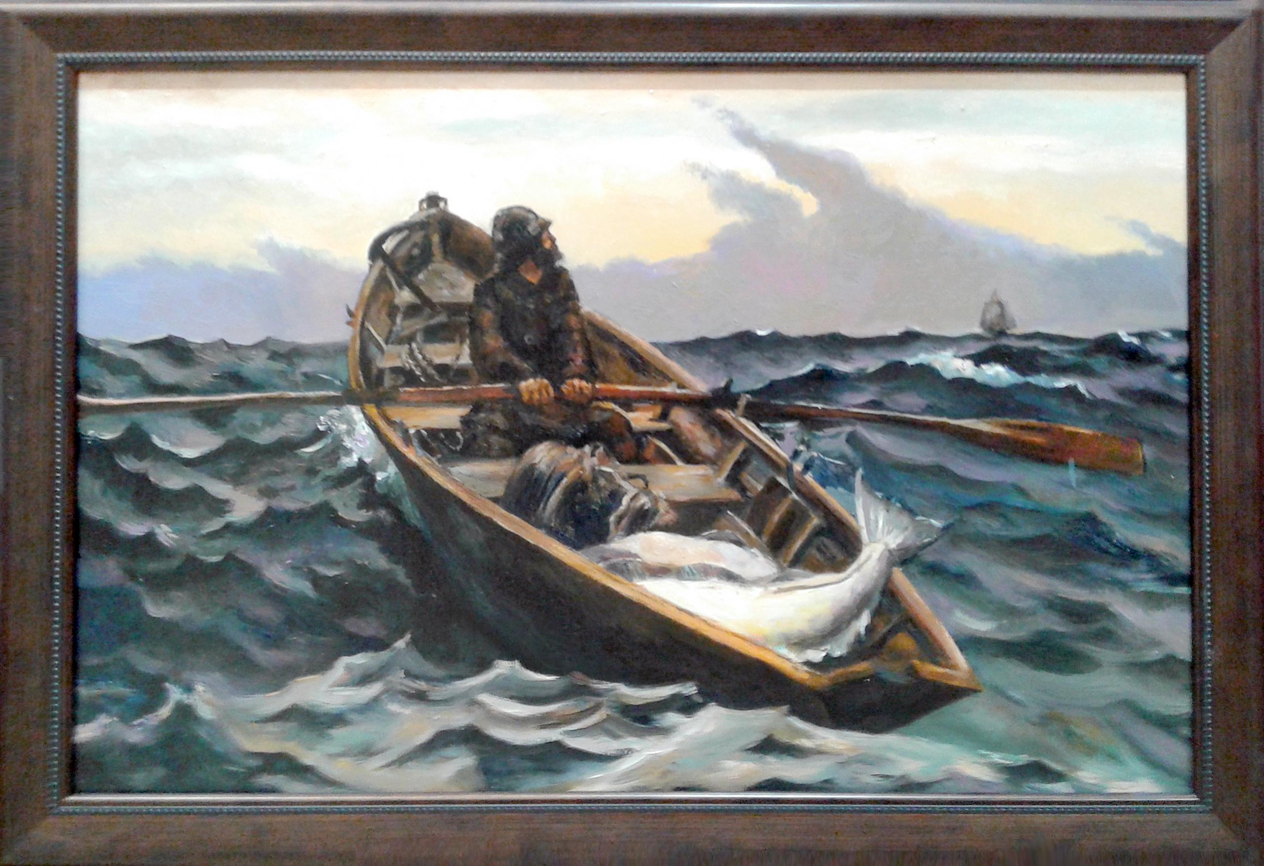 Копия картины Сигнал в тумане