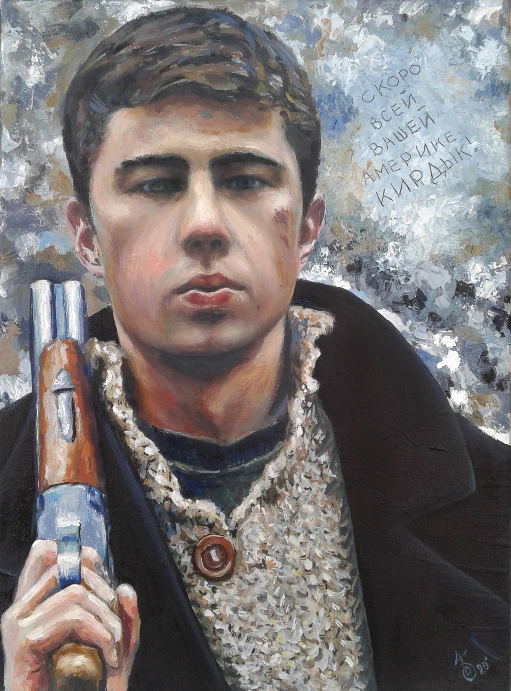 Картина портрет С. Бодрова - Брат