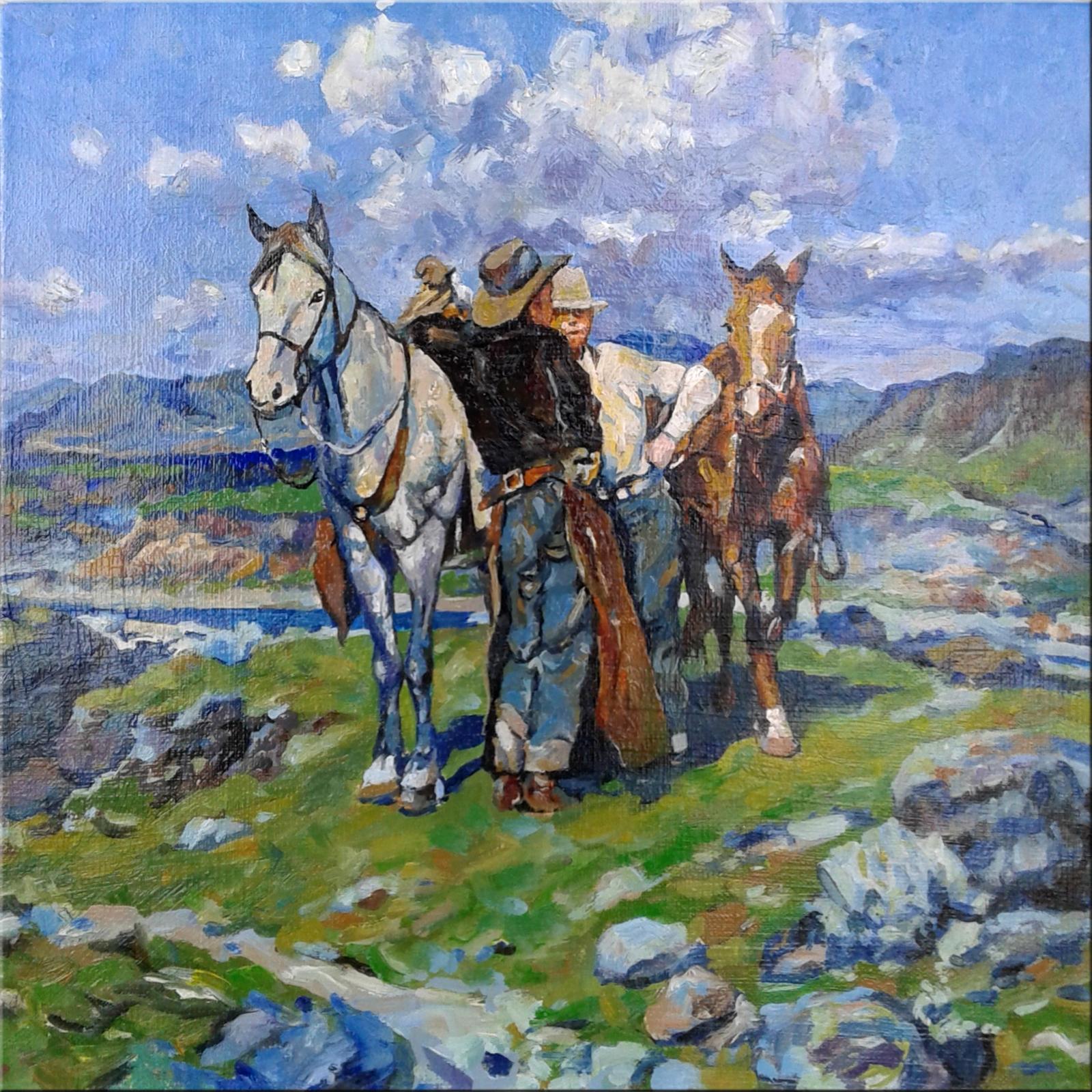 Копия картины Разговор на Высоких Равнинах