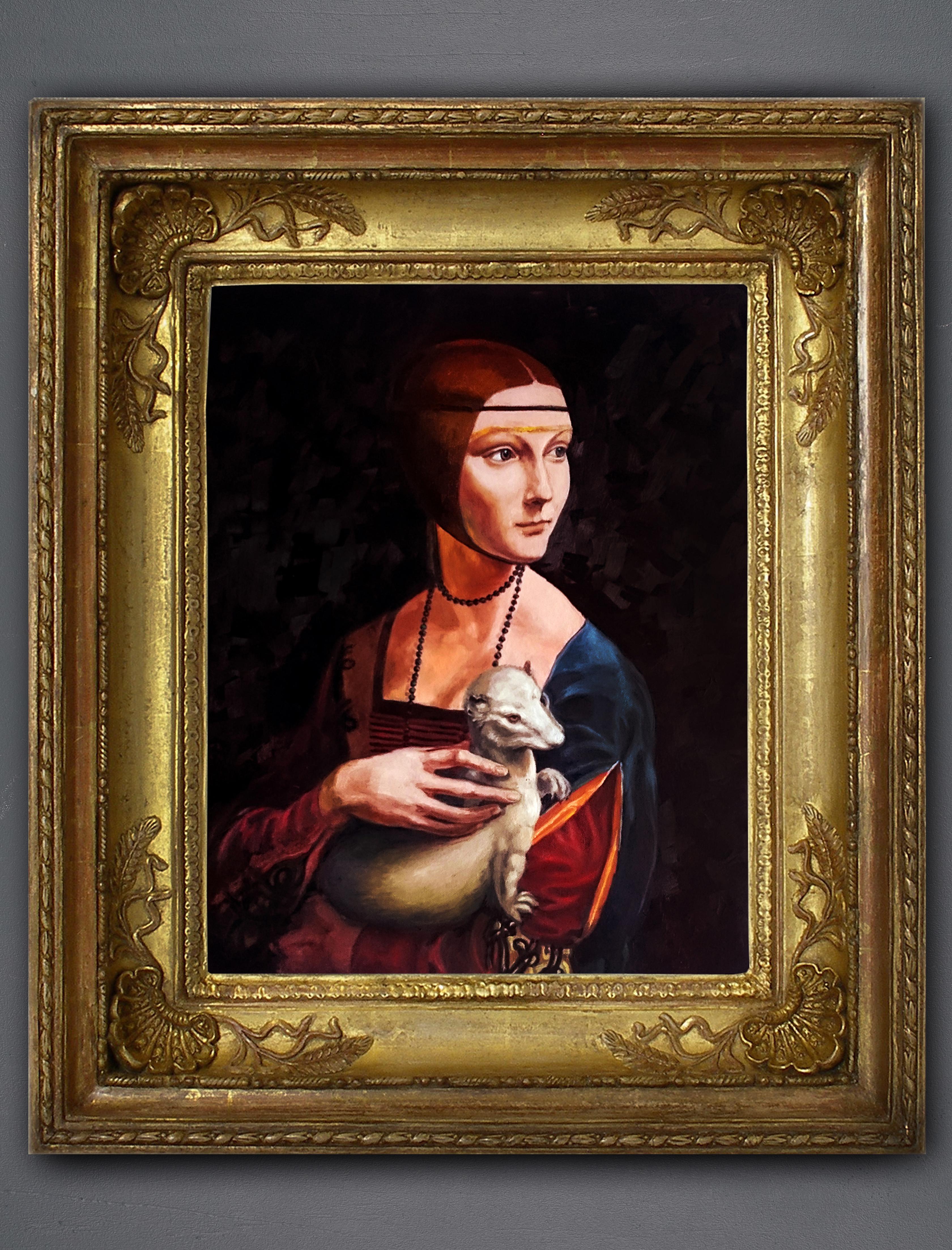 """Копия картины """"Дама с горностаем"""""""