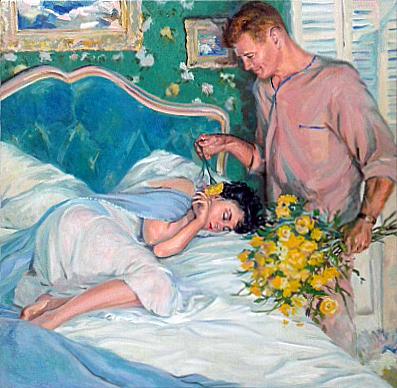 Копия картины День желтых цветов