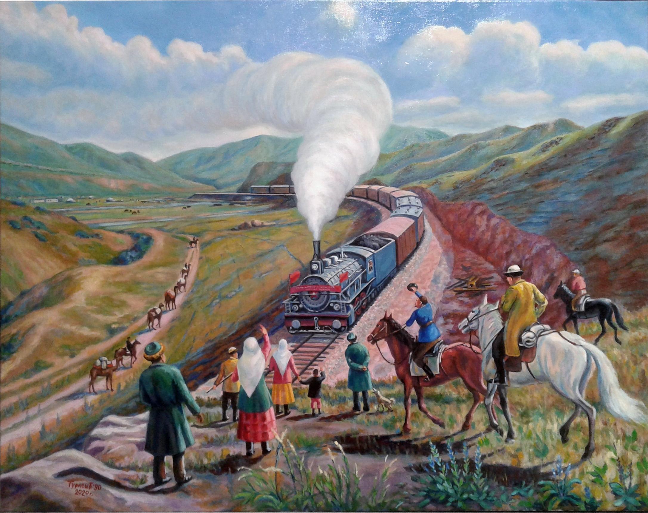 Копия картины Турксиб масло-холст