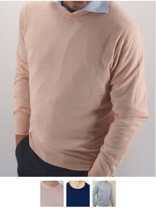 Crewneck Ultralight  100% Wool Loro Piana yarn