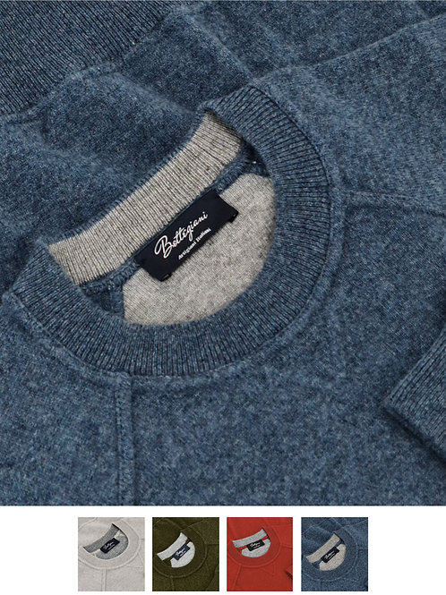 Sweater Crew Neck 100% Cashmere Loro Piana Yarn