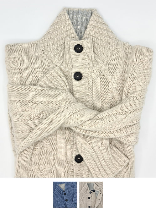 Cables Jacket 100% Cashmere Coarsehair Loro Piana Yarn