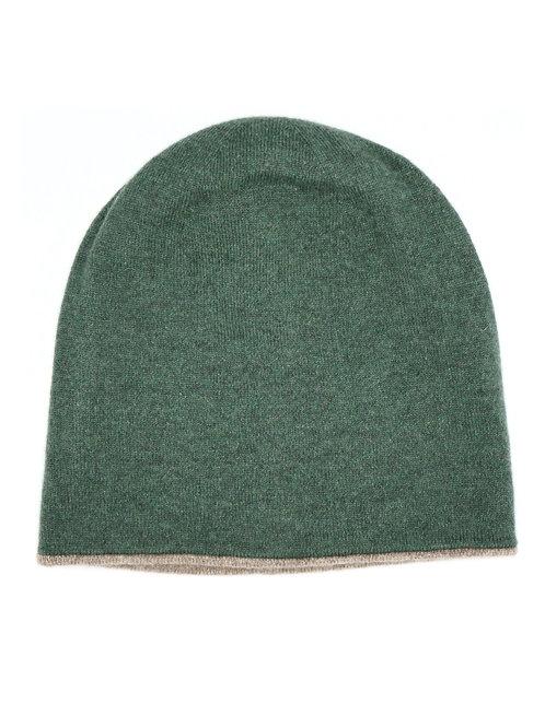 Roma Double Face Hat 100% Cashmere Loro Piana Yarn