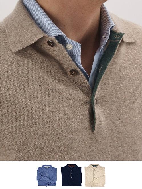 Polo Sweater 100% Cashmere