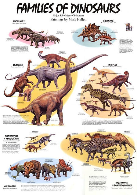 Families of Dinosaurs