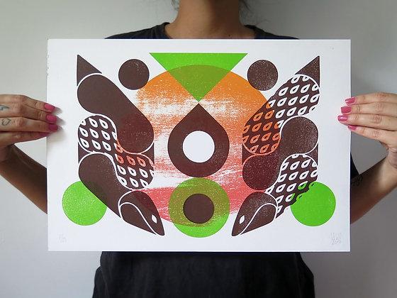 """Gravura """"Ninho de Cobras"""", 2017"""