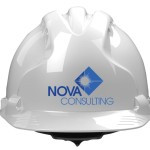 hard hat with logo