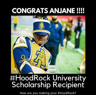 #HoodRock University Scholarship Recipient