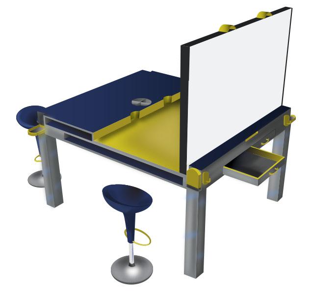 Collaborative Work Desk Open