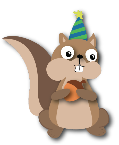 Squirrel Birthday Card Illustration