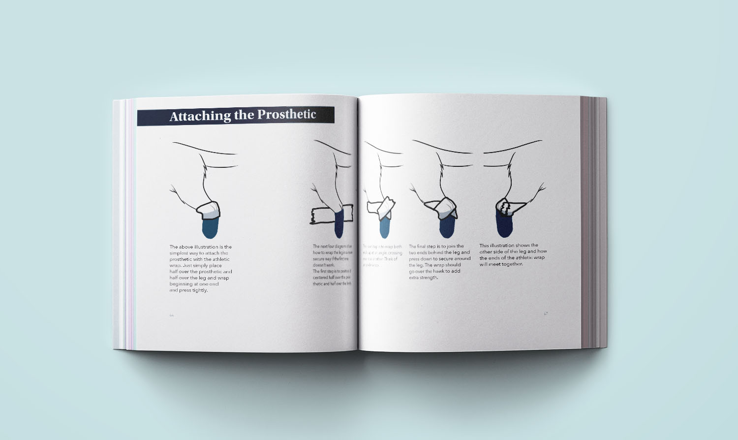 Prosthetic Leg Process Book Spread