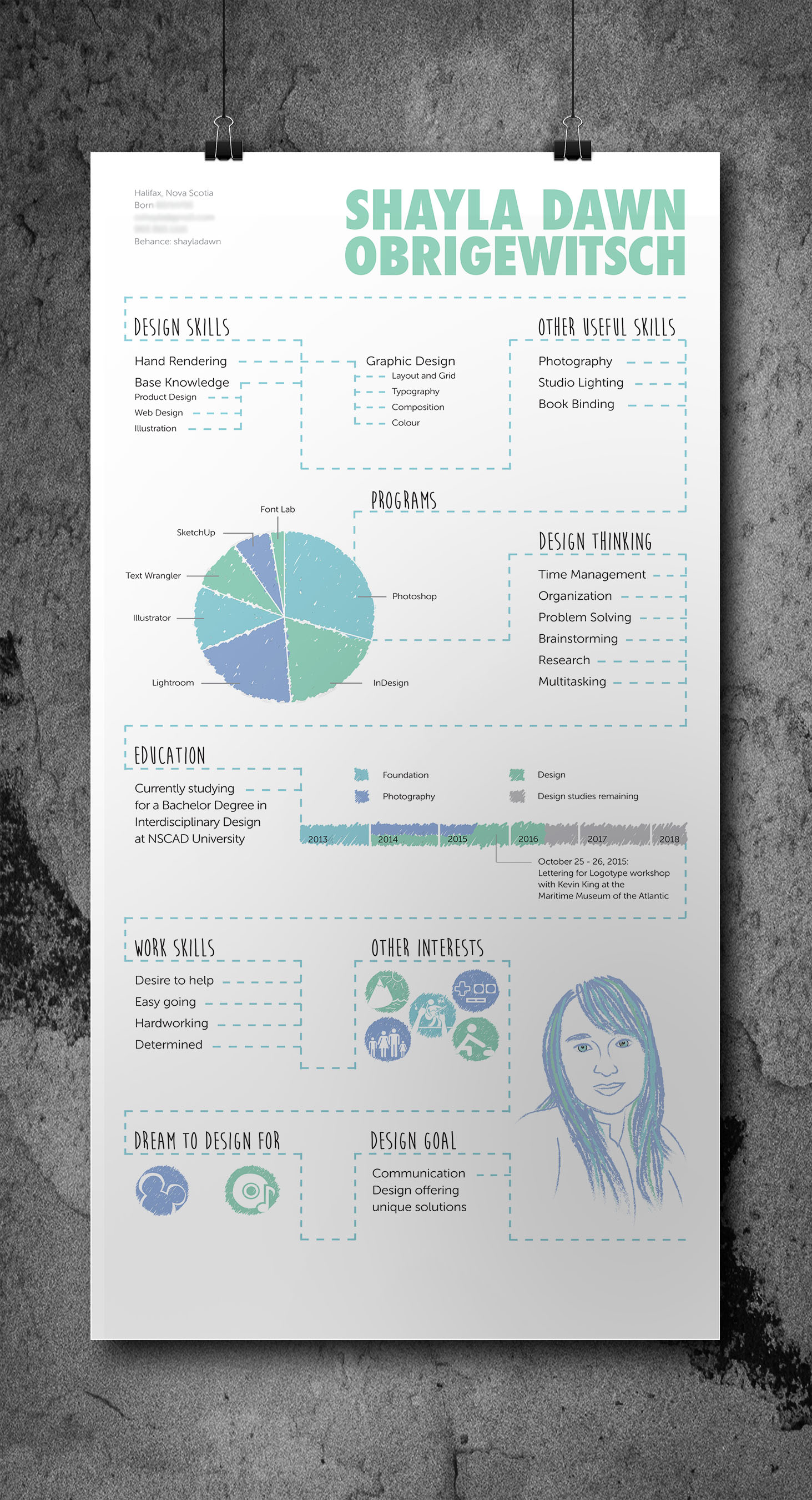 Infographic Resume Poster