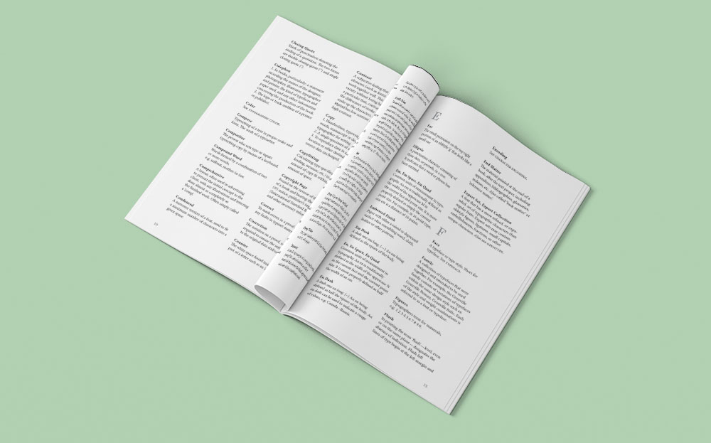 Typographic Glossary - Inside