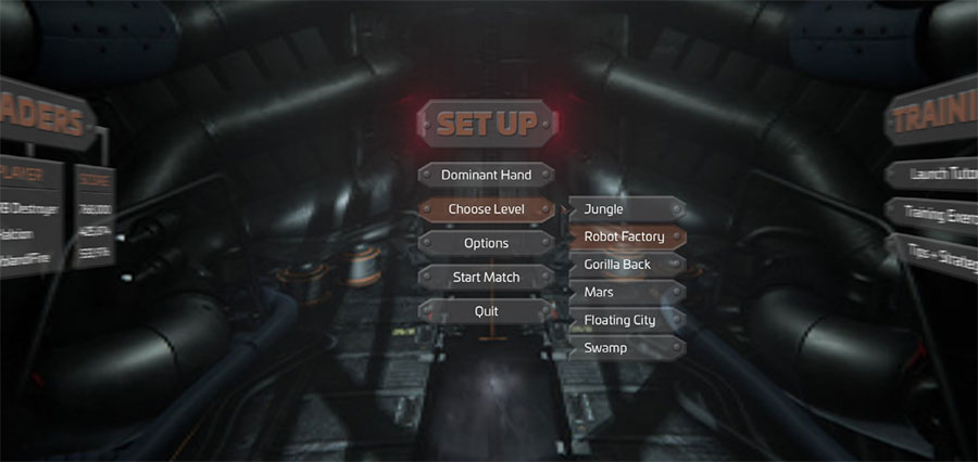 VR Game Menu - Set Up