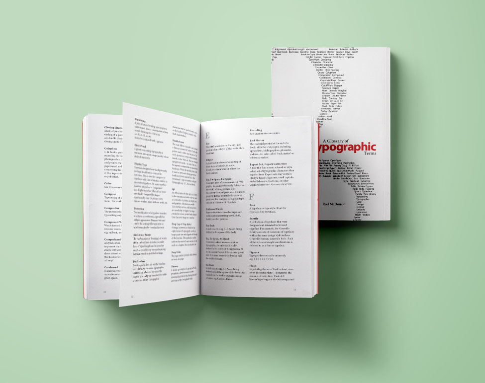Typographic Glossary - Inside/Cover