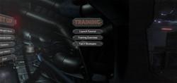 VR Game Menu - Training
