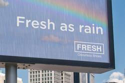 Fresh as Rain Shoe Billboard Closeup