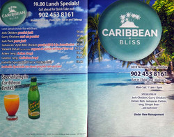 OLD Menu - Front and Back
